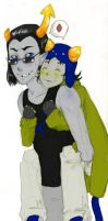 Nepeta and Equius Color by KoKitsuneMimi