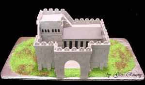 Wahammer Castle Cake by ginas-cakes