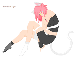 Mew Black Tiger by angelofcryinghearts