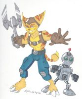 Ratchet and Clank by RobertMacQuarrie1