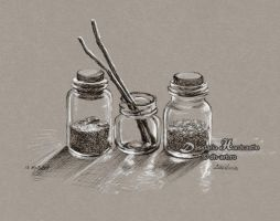 Small jars by dh6art