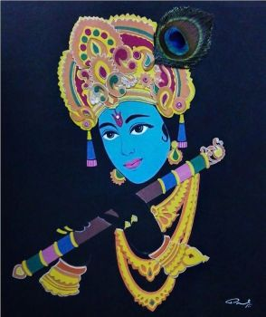 KRISHNA (Collage Work) by enigmatic-freak