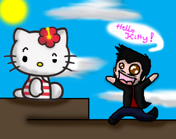 Mike and Hello Kitty by bandziorek