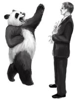 RAWR panda wants your bamboo by omtay