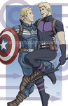 Commission - Cap/Hawkeye by DeanGrayson