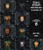 Tribal Designs now on Second Life! by DarkIceWolf