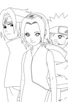 Team 7 Lineart by CrypticRiddlers