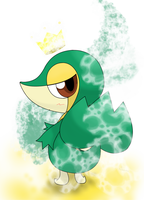 snivy magic by hoyeechun
