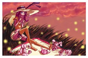 Fluttershy diaper sunset tea party by Lilith-Fetish