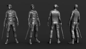 low poly policeman wip by opengraphics