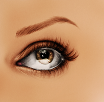 Mila's eye by FlyyPhoenix