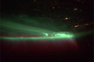 Northern Lights Viewed From the ISS by Vikutta-Perex