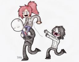 Slenderman Piggyback by Dethkira