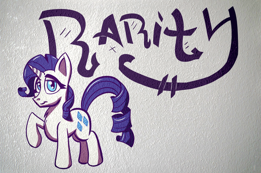 Rarity Poster (Wall Edit) by SirDeeViant