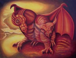 Double Head Dragon by MrsGraves