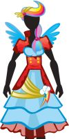 Humanized Crystal Rainbow Dash Outfit by ladypixelheart