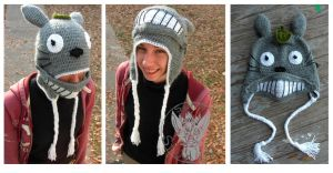 Totoro mask Hat by TheCrochetDragon