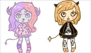Pastel point adopts by Hylian-Pugapillar