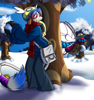 Snow war: Iris target's Hickory by coyotepack