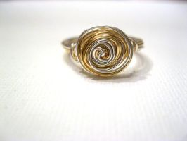 gold and sterling silver ring by faranway