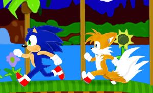 Sonic and Tails by Dapuffster
