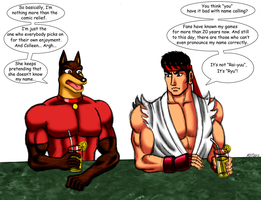 Blitz Meets Ryu (Colorized) by MDTartist83