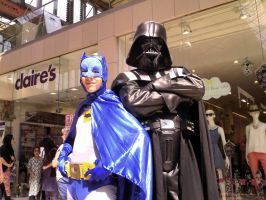 Batman and Vader by zentron