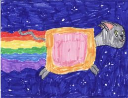 AAAHHH NOT THE NYAN CAT by Who-Butt