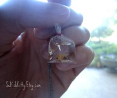 Carnival Goldfish Necklace by SelfishKitty