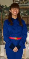 Me as 1971's Violet Beauregarde in blue attire V.2 by Magic-Kristina-KW