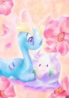 Goomy + Amaura by jellomon