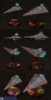 Imperial Star Destroyers by Atropos907
