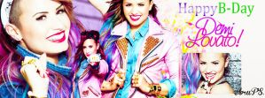 happy b-day demi lovato by ForeverSmile13