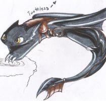 Toothless by ButtonsAvenger