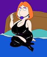 Mega Boob Latex Lois by meatwad44