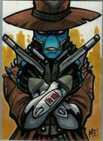 Cad Bane Sketch Card by MasonEasley