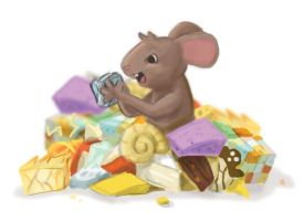 Cheese Enthusiast Mouse by ItsJustin