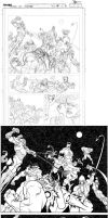 INVINCIBLE 88 page 8 pencil to ink by RyanOttley