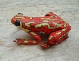 Frog Sculpture by aakritiarts