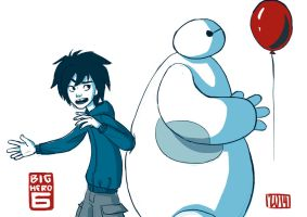 #5 Light blue: C'mon, Baymax! Baymax? by RenRoyal