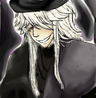 The Undertaker from kuroshitsuji (Black Butler) by Silvestrie