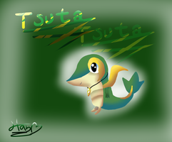 Tusta as snivy- Request by pokebulba