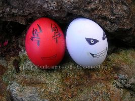Renji and Hollow Ichigo eggs by Yukari-of-Konoha