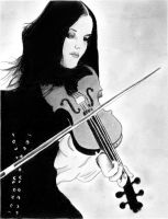 Girl With Violin by TClark