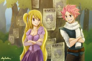 NaLu - Fairy Tail/Tangled by SunHee2244