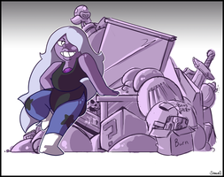 30 Day Art Challenge Day 2: Amethyst by CopyCatastrophe