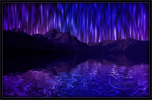 Surreal Painted Night Sky by Christi-Dove