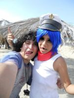 Gorillaz Cosplay- The photographer and 2D by haozeke93