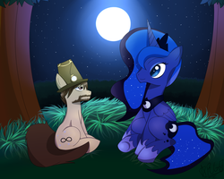 [Commission] Star Gazing by Wolfbaloo