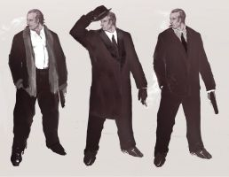 Mobsters sketch 2 by Panda-Graphics